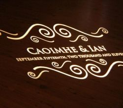 Gobo Projekce Projection274 Svatba Wedding